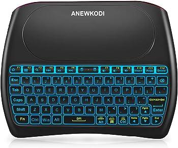 ANEWKODI 2.4GHz Mini Wireless Keyboard with Touchpad Mouse Combo