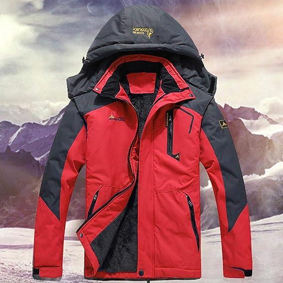 Sisaki Hombre Chaqueta de Esquí Chubasqueros Al Aire Libre Impermeable Chaqueta de Nieve Lana Capa Excursionismo Ropa de Deporte