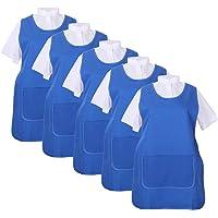 MISEMIYA - Pack*5 Pcs - Delantal Limpieza Uniforme Laboral CLINICA MÉDICOS Limpieza Veterinaria Sanitarios HOSTELERÍA…