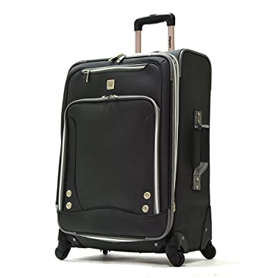 """Olympia American Airline 26"""" Skyhawk Expandable Vertical Rolling Case in Black"""