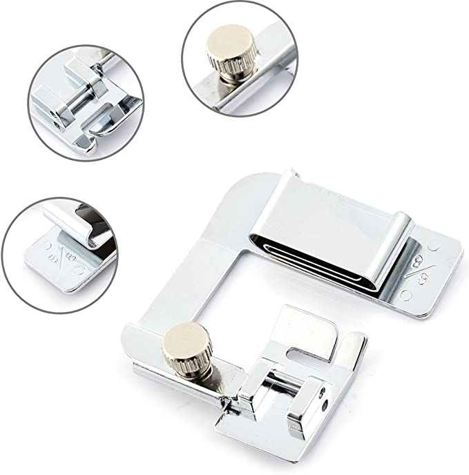 Foot Singer Baby Lock Myonly Wide Rolled Hem Hemmer Sewing Snap On Presser Walking Edge Stitch Foot Kit for Low Shank Sewing Machine Brother Janome