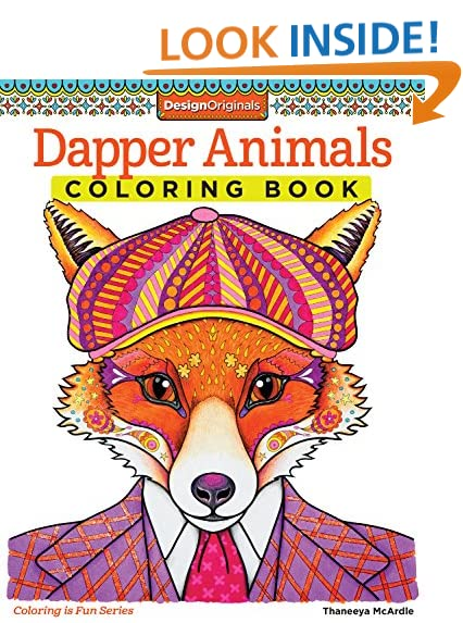 Dapper Animals Coloring Book Is Fun Design Originals