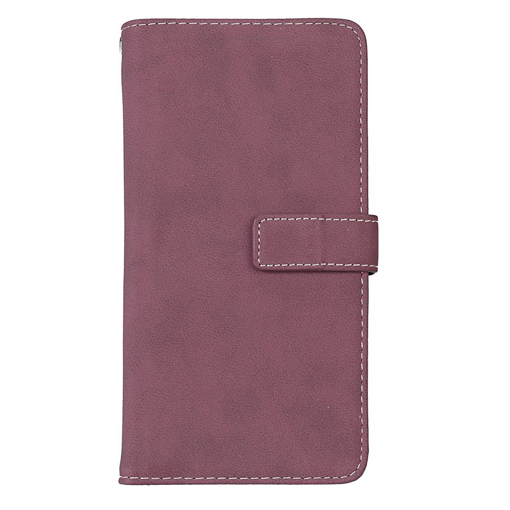 Retro matte leather Anti-scratch PU leather Stand Function Protective Cases Covers with Card Slot Slim Flip Cover for Samaung C9 Pro Purple Ecoway Samaung C9 Pro Case, 9 Card Slot Wallet Case