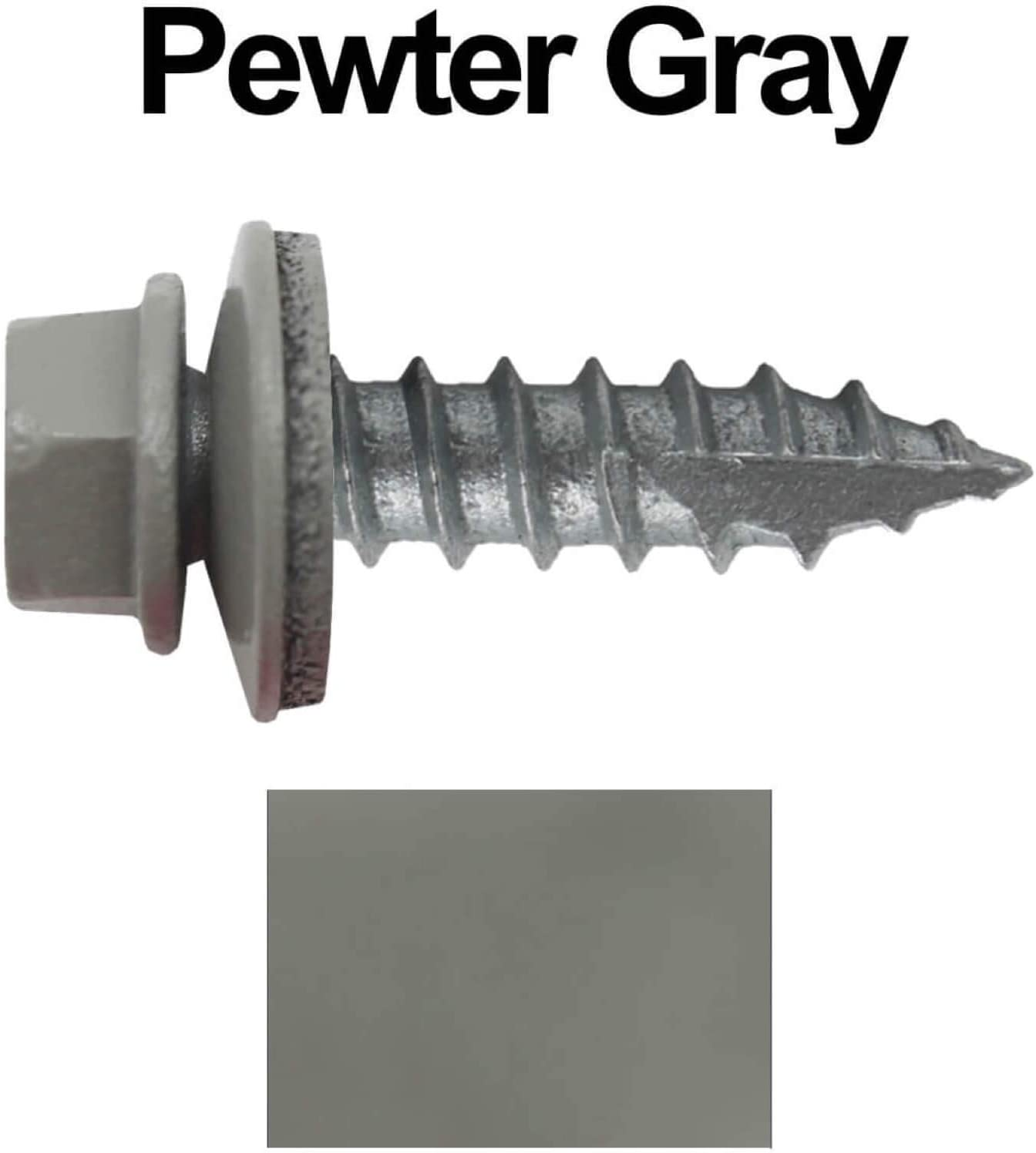 250 #14 Metal Roofing Screws: Self Starting//Tapping Metal to woodsheet Metal Screws with EPDM Washer Screws x 1 Dark Brown Hex Head Sheet Metal Roof Screw for Corrugated Roofing