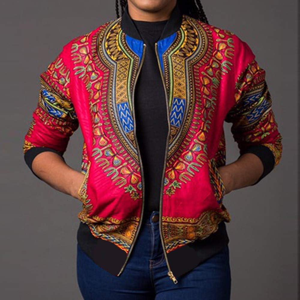 Dashiki Blousons Femme CIELLTE Africaine Imprimer Bomber Jacket Blazer Fleurs Floral Impression Cardigan Aviateur Manteau