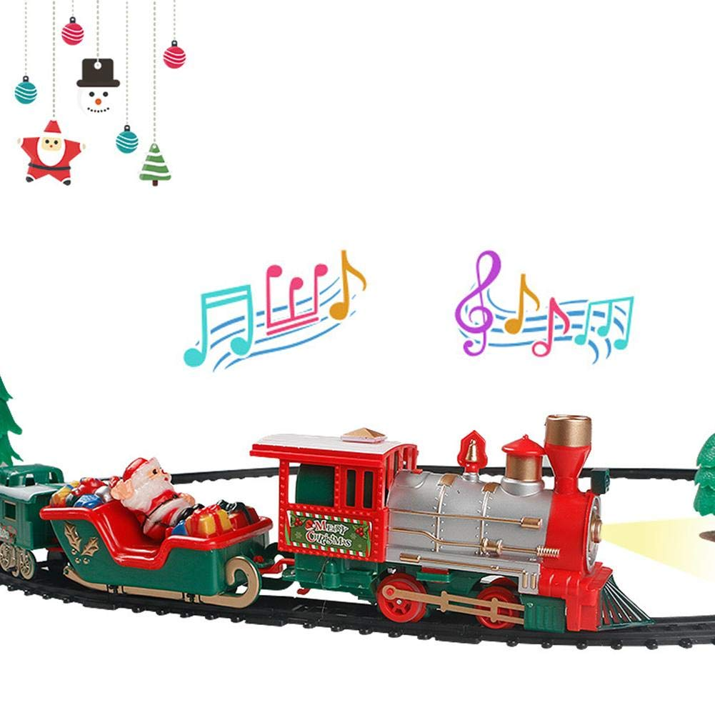 Per Children Small Train Track Toy Electric Train With Light and Music Christmas Gift Birthday Present