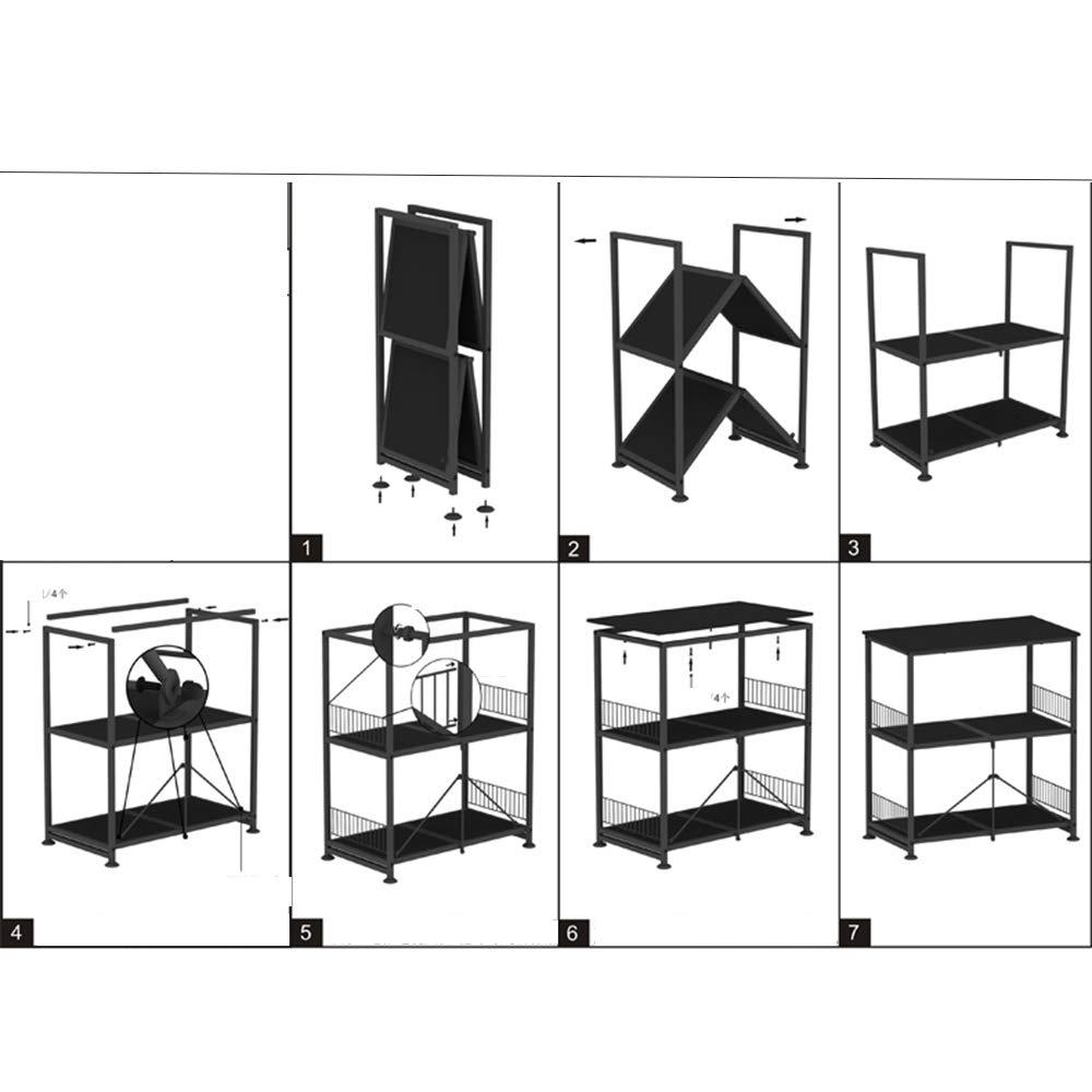 Kitchen shelf HUO Piso De Rack De Cocina De Microondas Rack De Almacenamiento De Almacenamiento De 3 Capas by Kitchen shelf (Image #4)