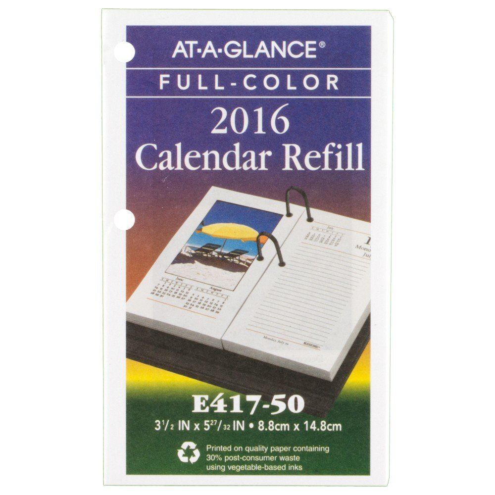 AT-A-GLANCE Daily Desk Calendar 2016 Refill, Photographic, 12 Months, 3.5 x 6 Inch Page Size (E41750)