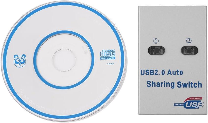 fosa Conmutador USB 2.0 para escáner y Impresora (Enchufe Entre Dos Ordenadores): Amazon.es: Electrónica