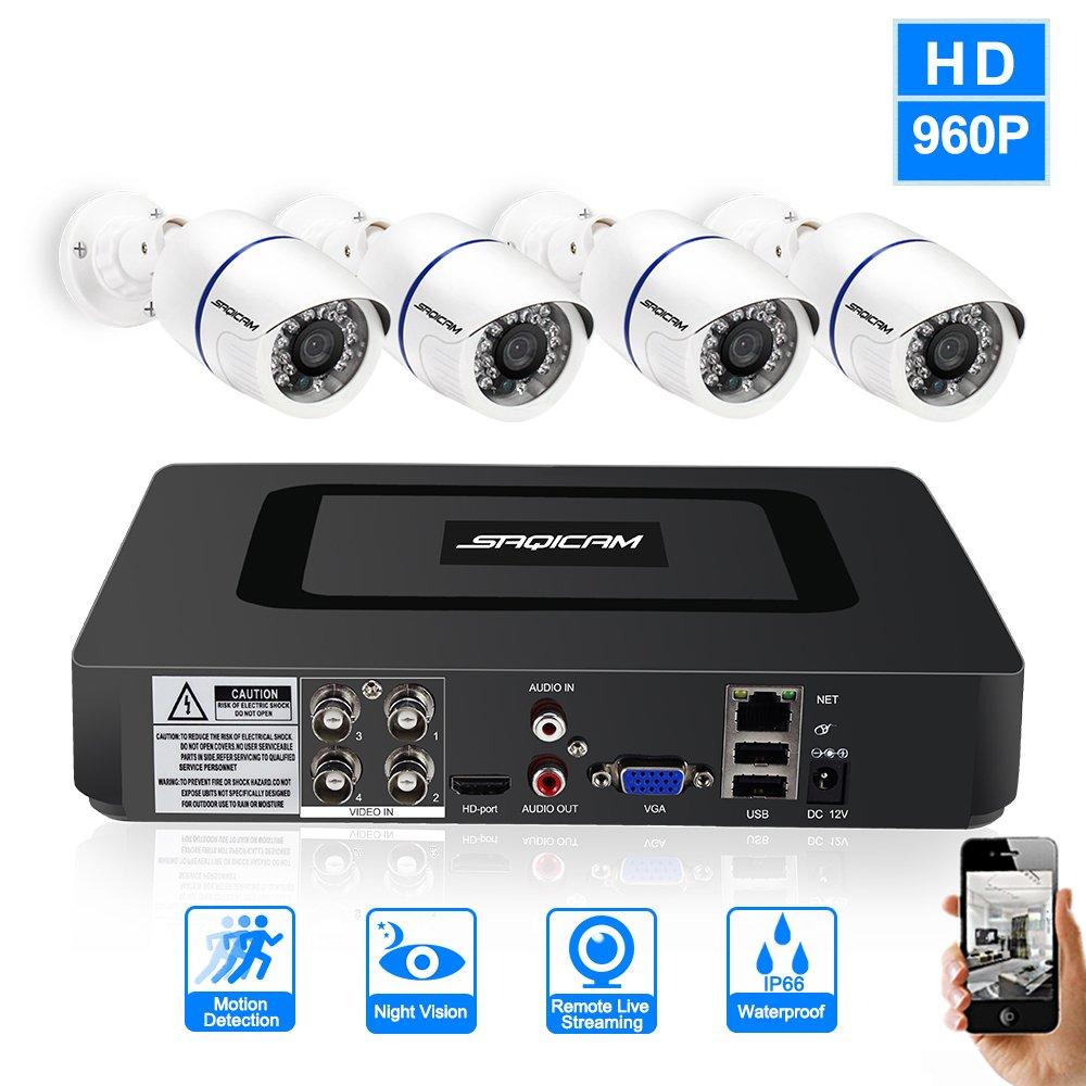 2019新作モデル SAQICAM 4Ch B07D14L3SK 960P Cctvシステム1080NのHD SAQICAM Dvrのハイブリッド4作品 1200Tvlのセキュリティデイ 4Ch/ナイト防水カメラのビデオ監視キット、Irのカットプラグアンドプレイ B07D14L3SK, きもの都粋:b30b500f --- martinemoeykens-com.access.secure-ssl-servers.info