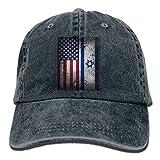 Buyiyang-01 Men Women American Israeli Flag Denim Jeanet Baseball Hat Adjustable Street Rapper Hat