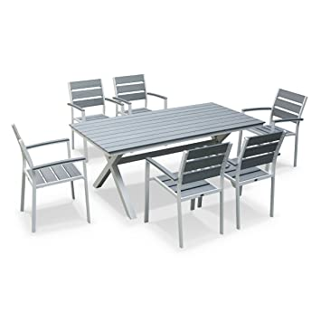 Alice\'s Garden - Table de jardin en bois, structure aluminium - La ...