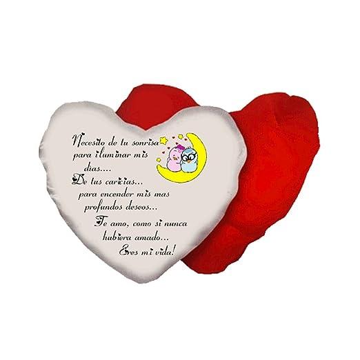 pazza idea cojín Forma Corazón escrita en Español Eres MI ...