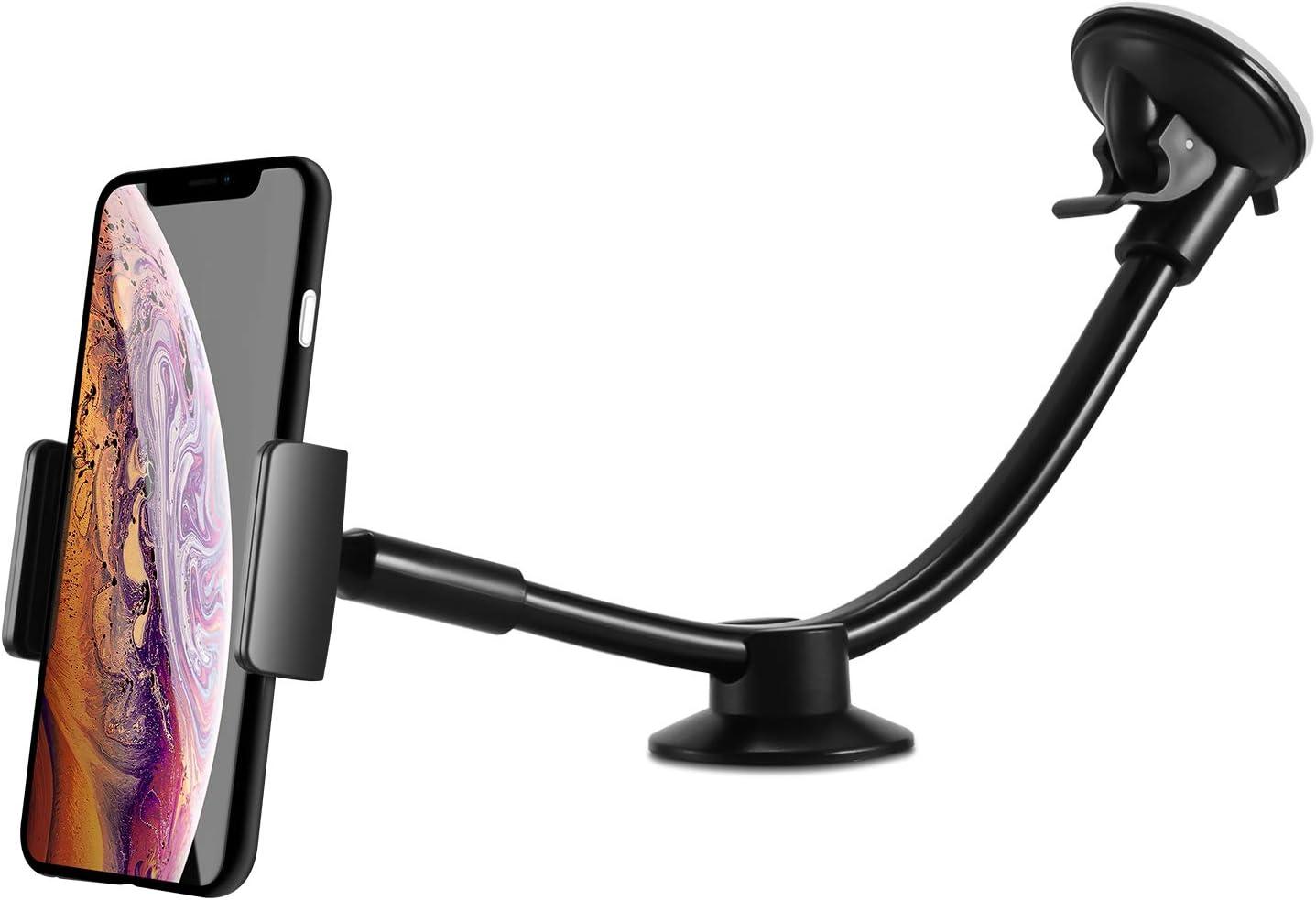 gr/ö/ße : B Breite 6-9.5cm Kompatibel mit den meisten mobilen Ger/äten Y U Y E Handyhalterung Halter Auto Autotelefonhalter Glas Saugnapf schwarz