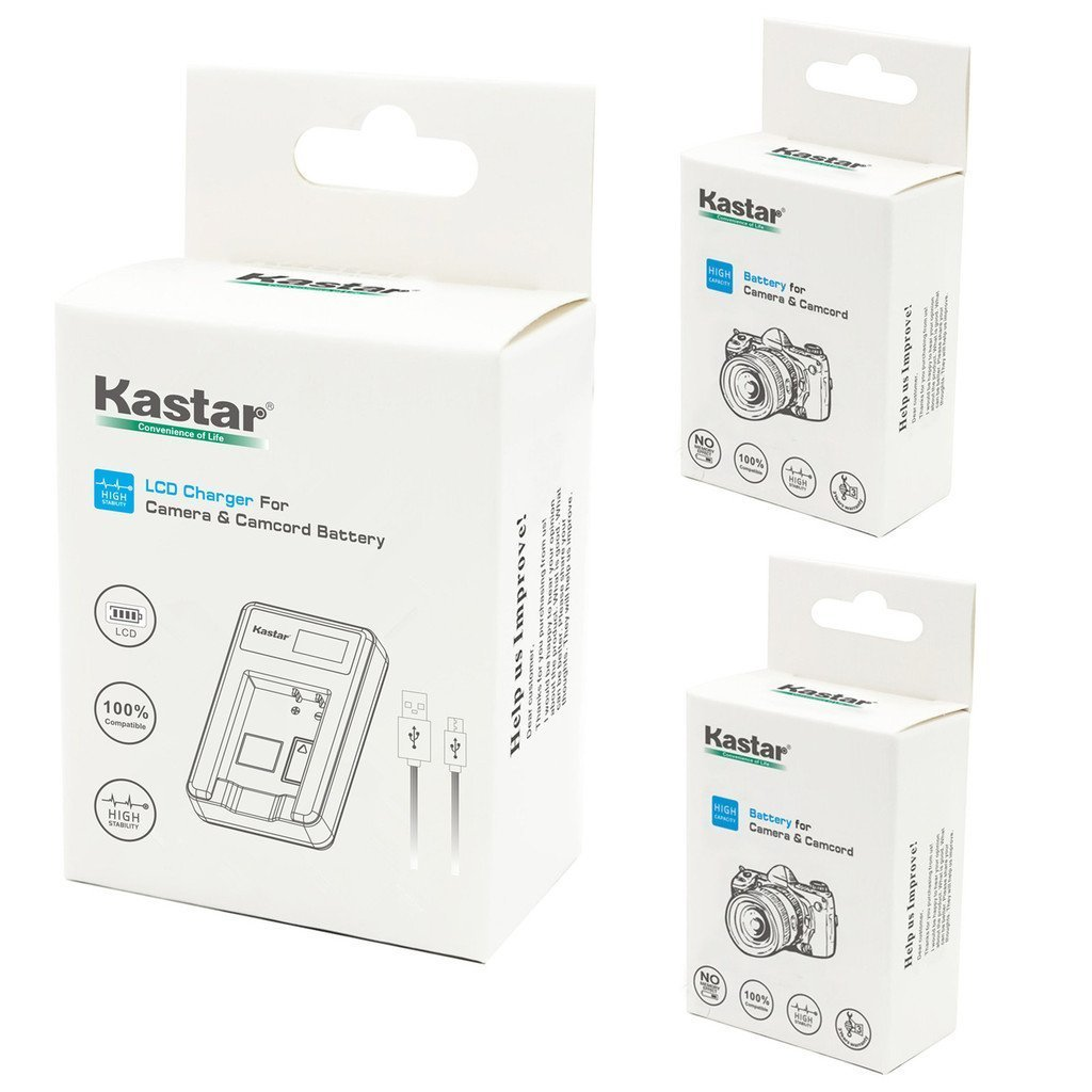 Kastar Battery (X2) & LCD Slim USB Charger for Canon BP-511 BP-511A and EOS 5D 10D 20D 30D 40D 50D Digital Rebel 1D D60 300D D30 Kiss Powershot G5 Pro 1 G2 G3 G6 G1 Pro90 Optura 20, Grip BG-E2N by Kastar (Image #5)