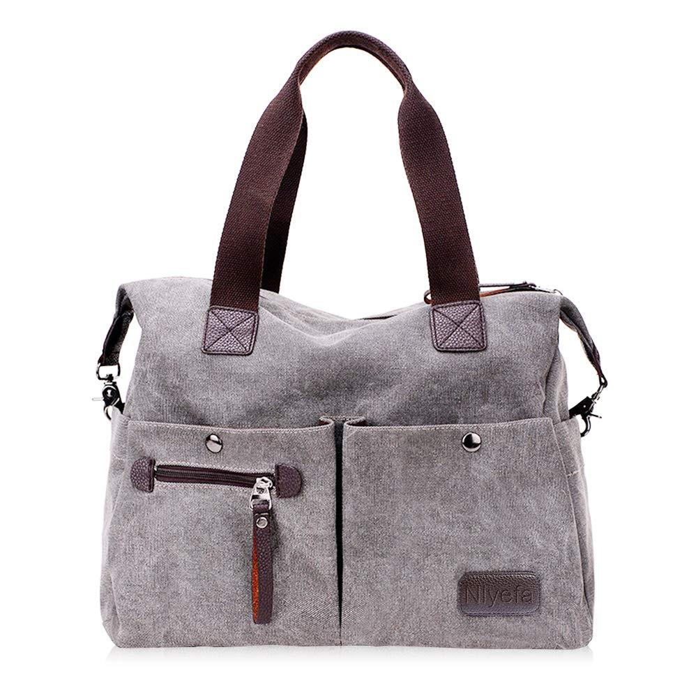 Nlyefa Damen Canvas Handtasche