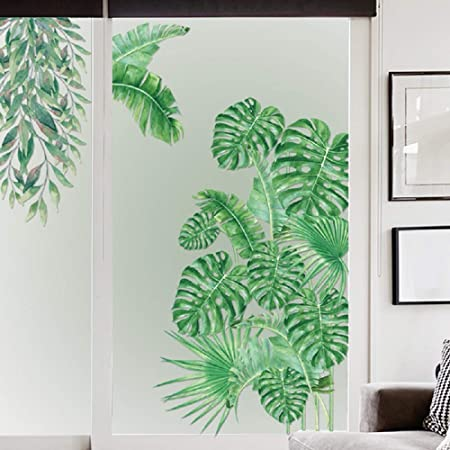 Removable Wall Stickers Nursery Green Foliage Leaves Hanging Vines Decor DIY AU
