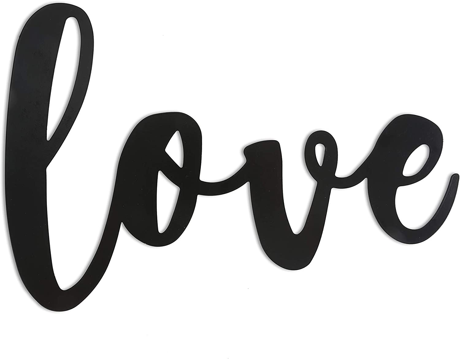 Scwhousi Metal Love Signs for Home Decor,Decorative Black Word Signs,15 x 7 inches