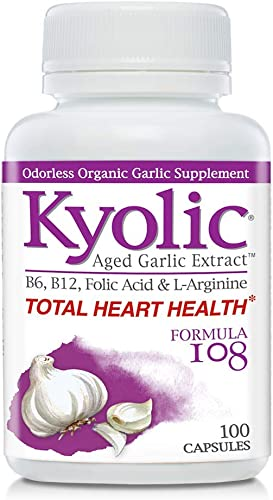 Kyolic Aged Garlic Extract Formula 108 Total Heart Health, 100 Capsules
