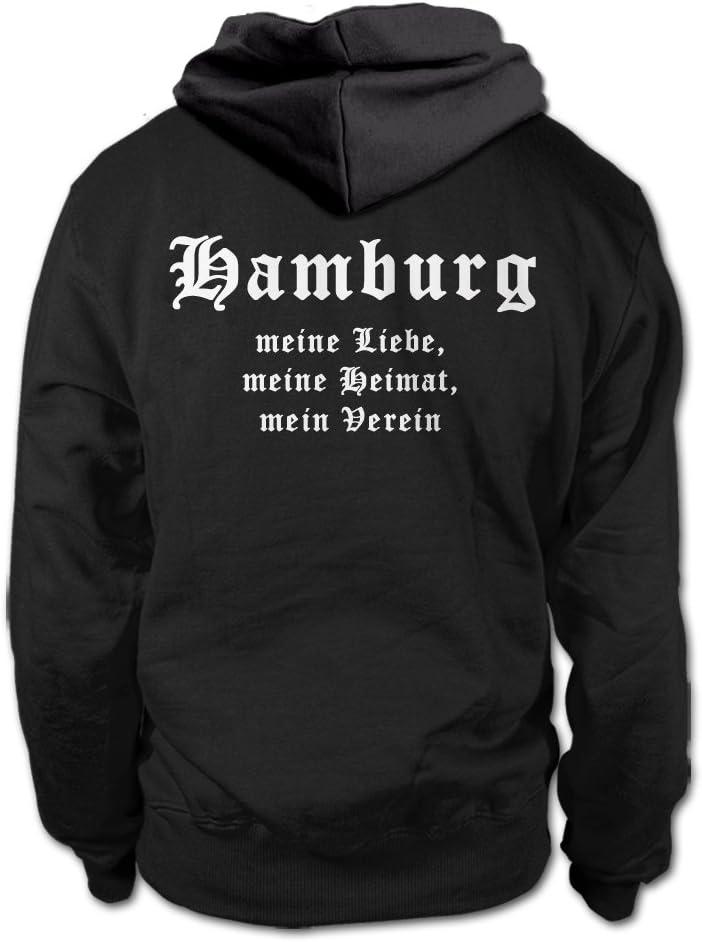Shirtloge Hamburg Meine Liebe Meine Heimat Mein Verein Fan Hoodie Size S 3xl Amazon Co Uk Sports Outdoors