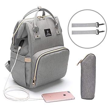 8bfcd817b6b5 Baby Diaper Bag Travel Mom Backpack Waterproof Large Capacity Insulation  Baby Bag Multi-Function...