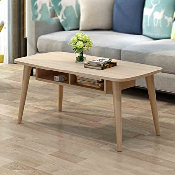 Amazon.com: TY BEI Nordic Minimalist Solid Wood Coffee Table ...