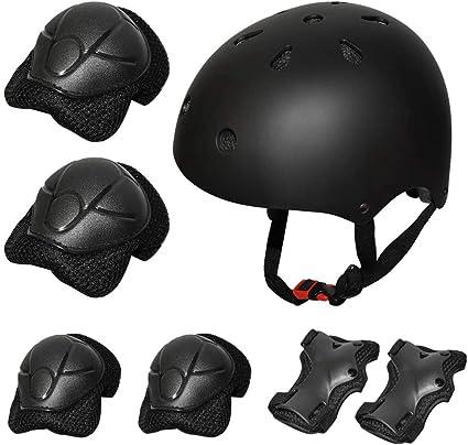 Protective Gear Outfit Kid Adjustable Helmet w//Knee Wrist Guard Elbow Pad Set US