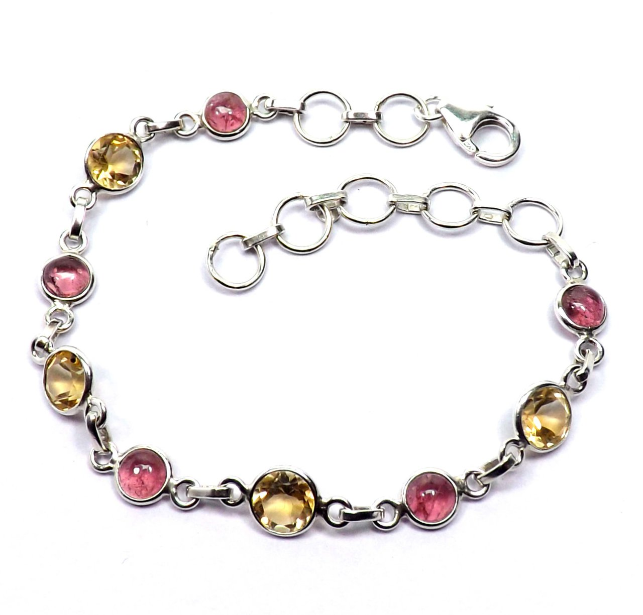 Sitara Collections SC10440 Sterling Silver Bracelet, Tourmaline and Citrine