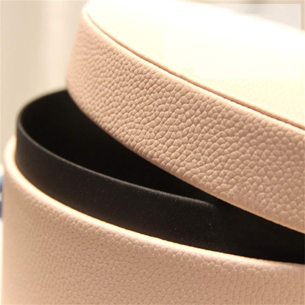 Confezione Regalo Rotonda in Pelle Rosa con Scatola di imballaggio per Anniversario di Compleanno