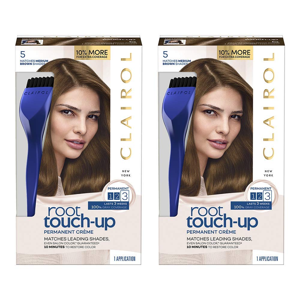 Clairol Root Touch-up, 5 Medium Brown, 2 Count