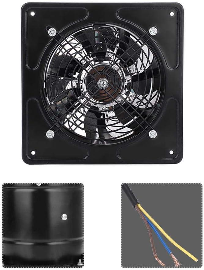 Fictory Ventilador de Escape Negro 40W 220V Ventilador de Escape montado en la Pared Bajo Ruido Hogar Ba/ño Cocina Garaje Ventilaci/ón de Aire Ventilaci/ón