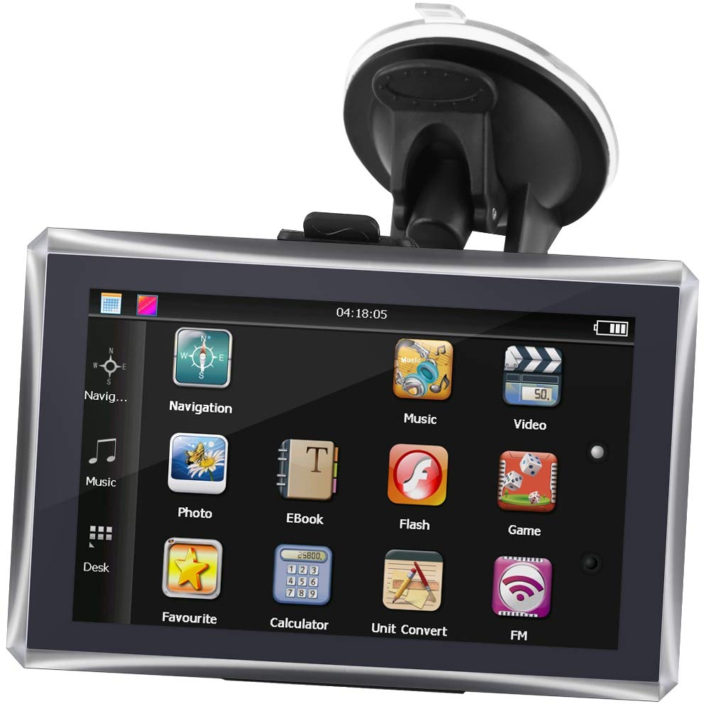 5-Zoll-Auto-Touchscreen Portable GPS-Navigator 128M 4GB FM Europe Free Map EU GPS-Navigation