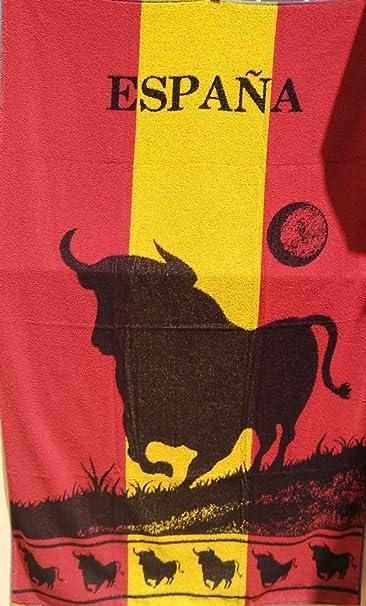 VIDAL HOME Toalla Playa Toro Bandera DE ESPAÑA: Amazon.es: Hogar
