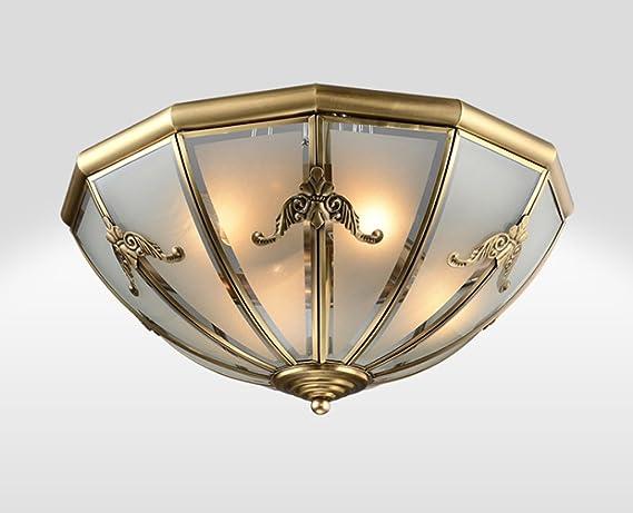 Plafoniere Per Lampade Led E27 : Dfhhg® plafoniera in rame completa lampade da soffitto nordic
