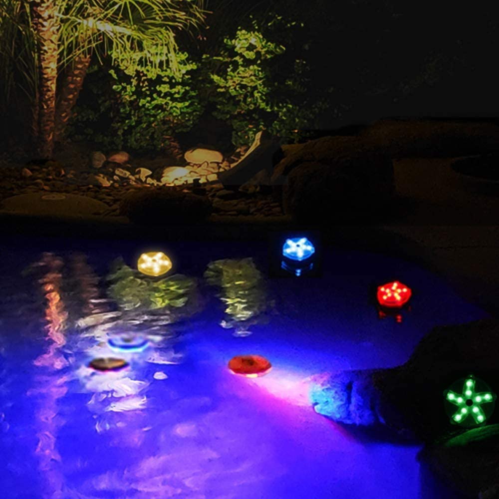 LED Color-Changing Magnetic Pool Light IP68 Waterproof Starfish Lamp 2pcs Blufree Floating Pool Lights 3.3 Aquarium Pond Spa Bath Hot Tub Light.Decor for Party Event Vase Wedding Home Fish Tank.