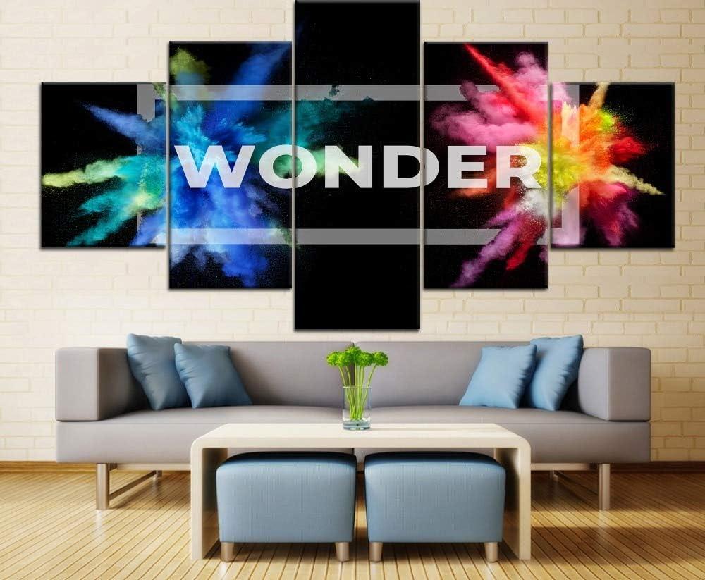 mmwin 5 Piezas de Lienzo de impresión HD Resumen Artístico Wonder Type Poster Home Decorativo Living Room Artwork: Amazon.es: Hogar