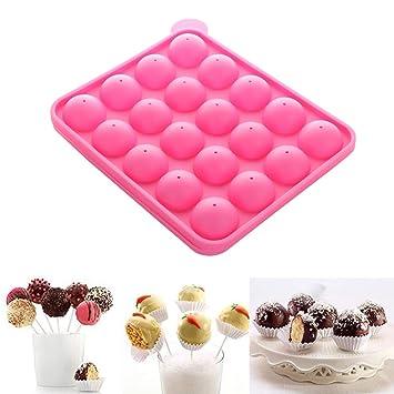 Bupin Molde de Silicona con 20 Agujeros para paletas de Chocolate, 20 Agujeros: Amazon.es: Hogar