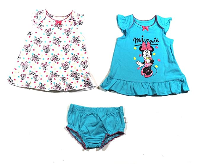 dbe8f99d3a82e Amazon.com: Disney Baby Girls' Minnie Mouse 3-Pack Tops and Short ...