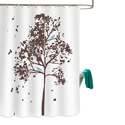 Amazon Family Decor Tree Fabric Shower Curtain W Blue Bird