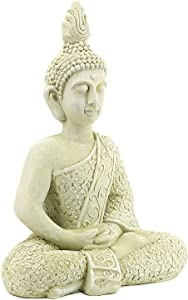 Bellaa 23608 Meditating Buddha Statue Outdoor Decor Garden Patio Deck Porch Yard 22 inch