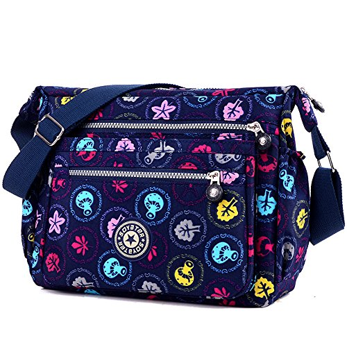 ENKNIGHT Nylon Crossbody Purse Bag for Women Travel Shoulder handbags (colorful) by ENKNIGHT