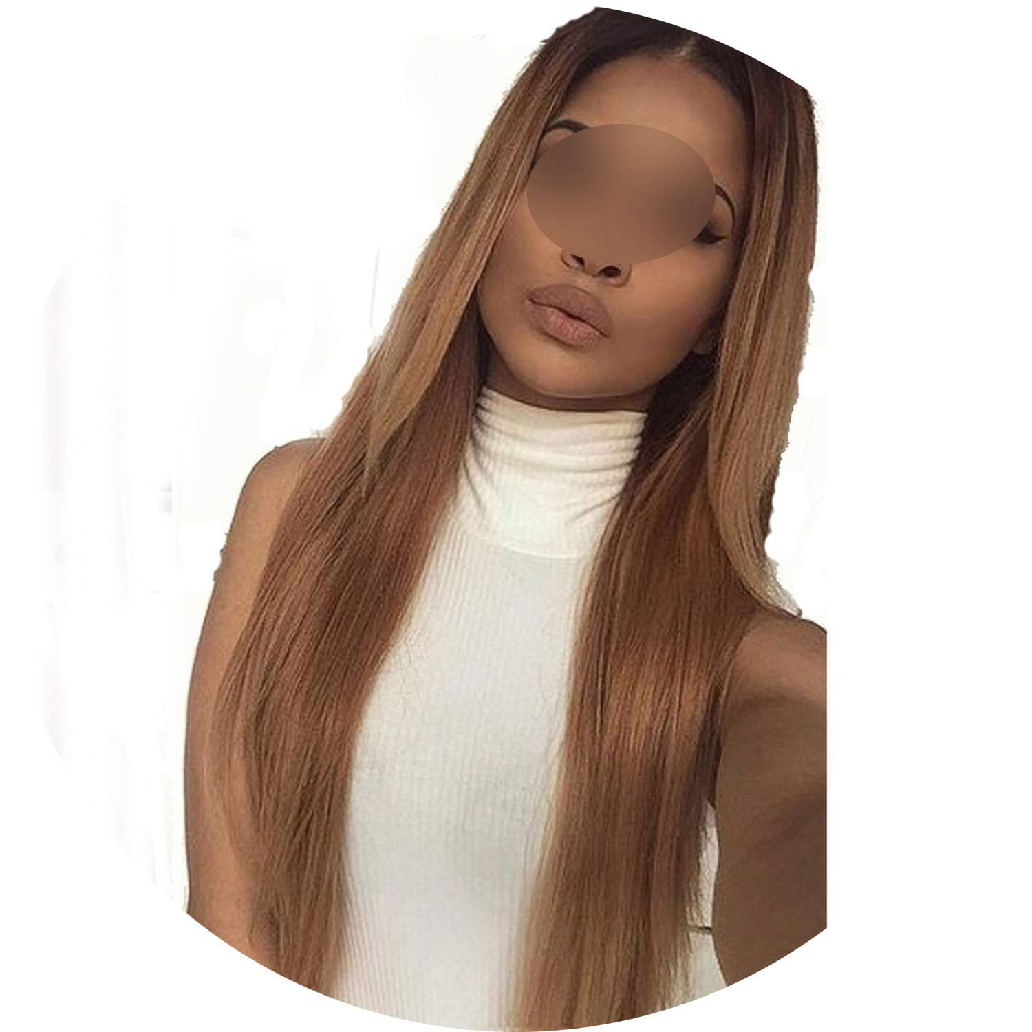 Ombre Color 13X6 Lace Front Human Hair Wigs With Baby Hair Pre-Plucked Hairline Brazilian Remy Hair Glueless Wigs crack of dawn,24Inches,150%,13X3 Lace Front Wig