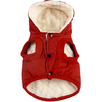 Vecomfy Fleece and Cotton Lining Extra Warm Dog Hoodie
