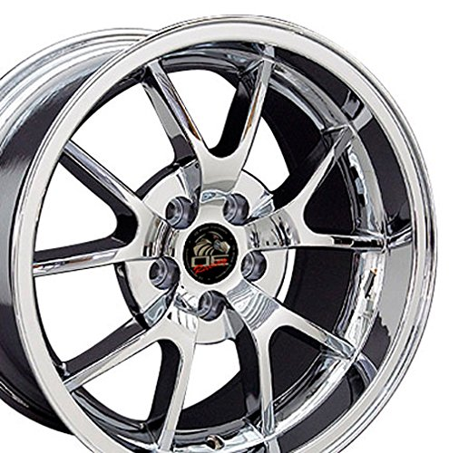OE Wheels 18 Inch Fits Ford Mustang 94-2004 FR500 Style FR05B 18x10/18x9 Rims Chrome SET