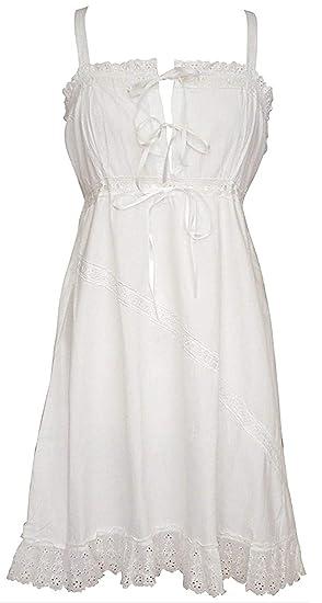 d7163f719f Powell Craft 100% Cotton Victorian Style Sleeveless Nightdress - Maria   Amazon.co.uk  Clothing