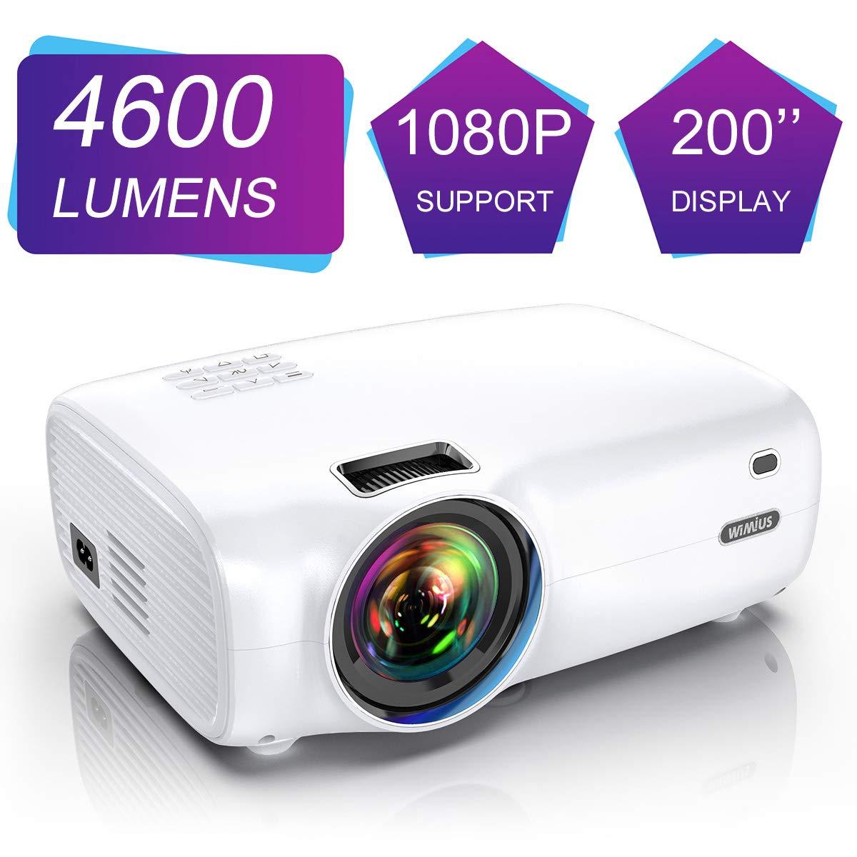 WiMiUS Videoproiettore, 4600 Lumen