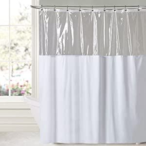 "Sweet Home Collection Extra Long 84"" x 72"" Shower Curtain Antibacterial Antimicrobial Treated Mildew and Water Resistant Multiple Colors and Sizes, White, 84"" 72"" Wide X"