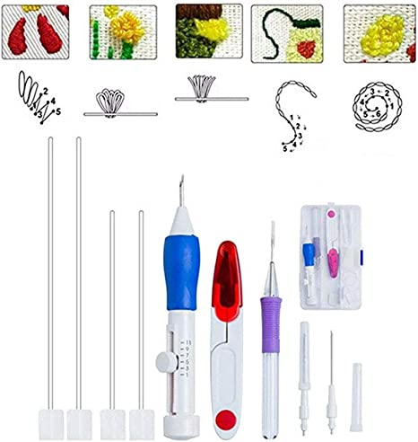 Magic Embroidery Pen Punch Needle Set DIY Cross Stitch Craft Tools For Sewing
