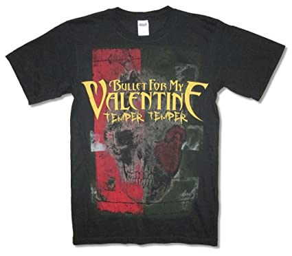 Amazon Com Bullet For My Valentine Skull Heart Tour 13 Black T