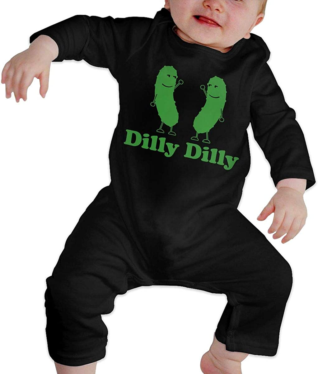 LTYBabys Dilly Dilly Dancing Twin Dill Pickle Baby Girl Boys Long Sleeve Comfortable Jumpsuit